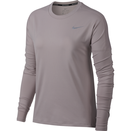 Nike T-shirt Ml Rn Dry Element Donna Particle Rose