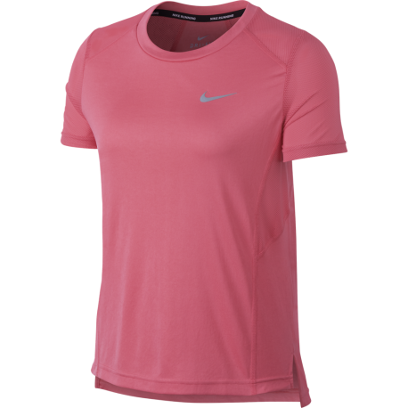 Nike T-Shirt Donna Mm Rn Dry Miler Sea Coral