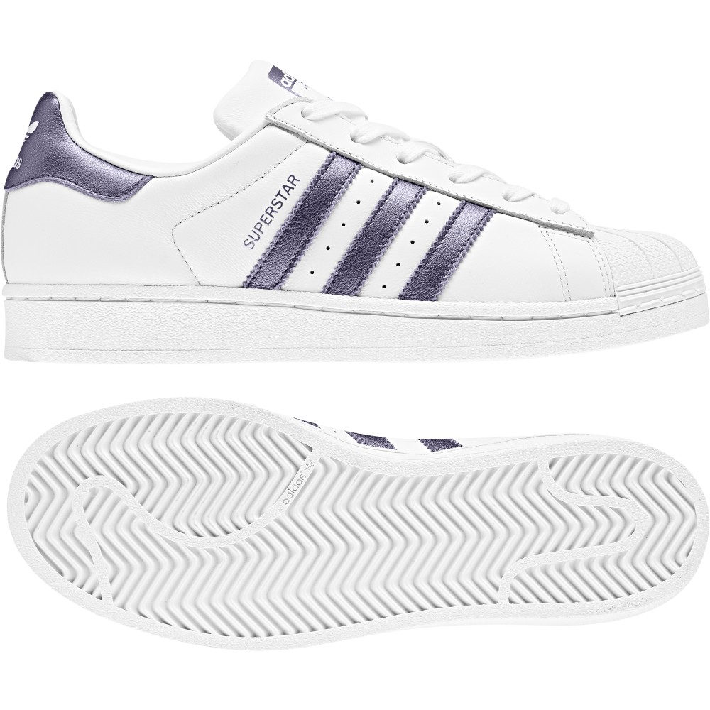 superstar adidas ragazza viola