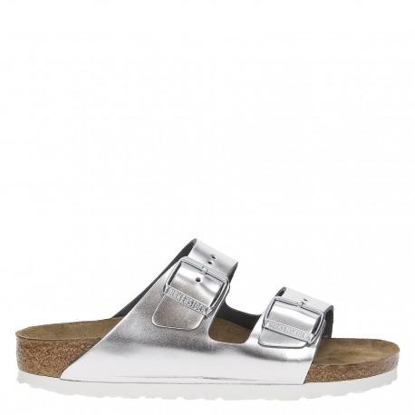 Birkenstock Sandalo Donna Arizona Metal Argento