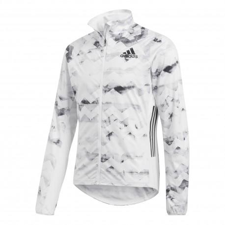 Adidas Giacca Run Track Adizero Crywht/Black