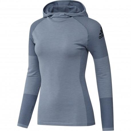 Adidas Shirt Ml Run Climaheat Hood Donna Rawgre