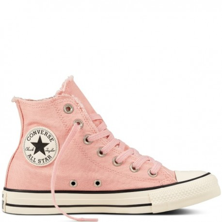 Converse Donna Canvas Frayed Denim Hi Rosa