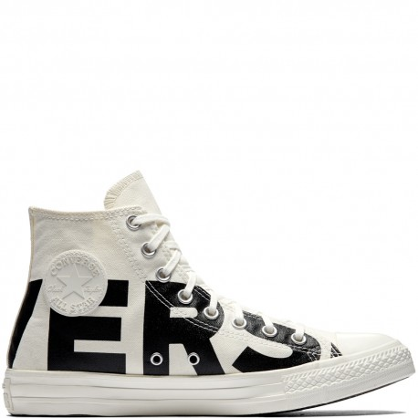 Converse Canvas  Wordmark Hi Bianco/Nero