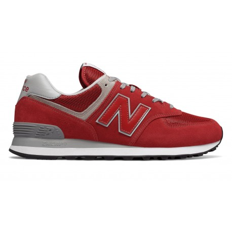New Balance 574 Mesh/Suede Rosso/Rosso