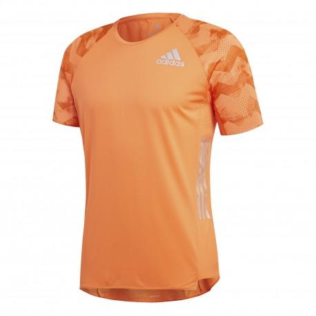 Adidas T-Shirt Mm Run Adizero Hireor/Orange