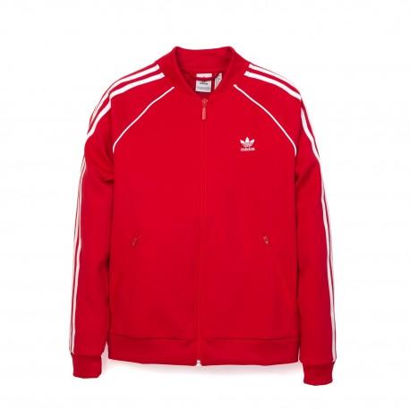 Adidas Felpa Zip 3 STR Or Rosso Donna