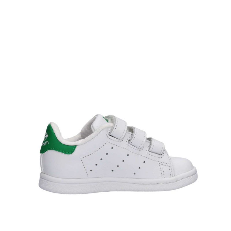 meet 84ba1 fb373 Adidas Stan Smith Bambino Cf Bianco Verde