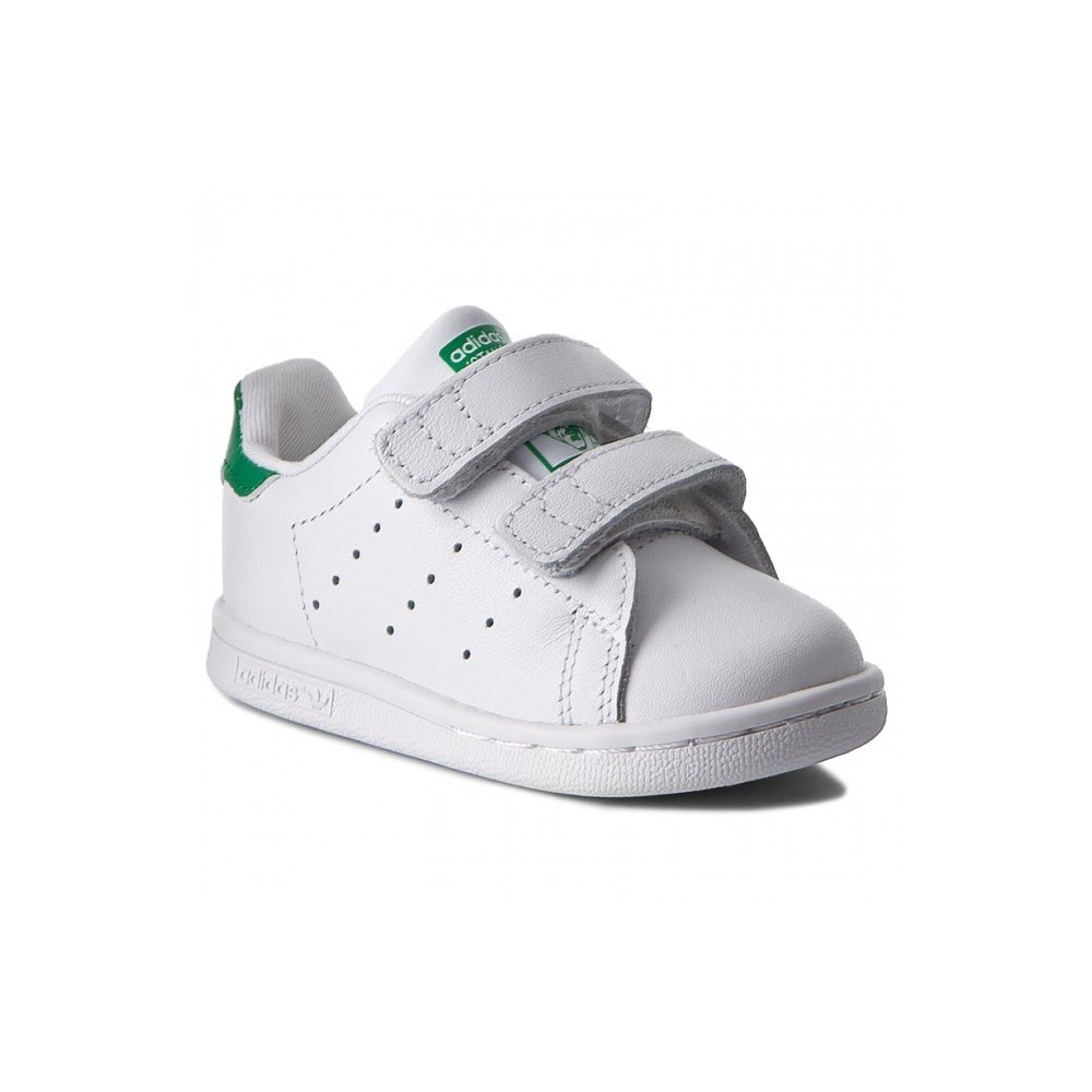the best attitude 02e6b 5e1dc ... Adidas Stan Smith Bambino Cf Bianco Verde