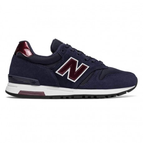 New Balance Donna 565 Suede/Mesh Blu/Bordo' Metallic