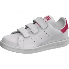 ADIDAS originals sneakers stan smith cf ps bianco rosso bambina