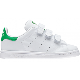 ADIDAS originals sneakers stan smith cf c ps bianco verde bambino