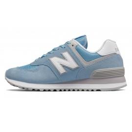 New Balance Donna 574 Suede/Mesh Azzurro/Bianco