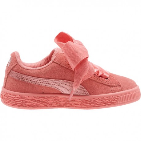 Puma Junior Suede Heart Snk Ps Rosa