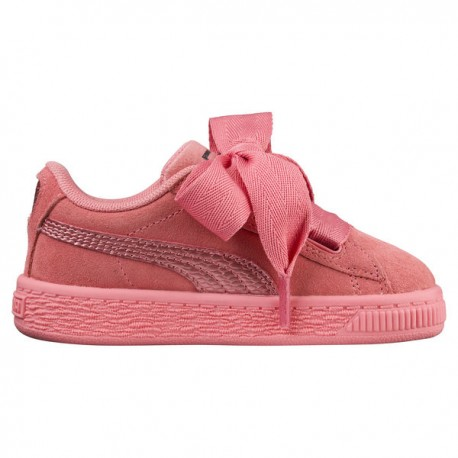 Puma Junior Suede Heart Snk Td Rosa