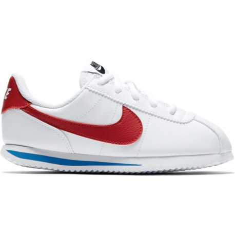 Nike Junior Cortez Basic Ps Bianco/Rosso
