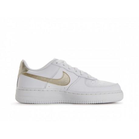 Nike Bambino Air Force 1 Gs Bianco/Oro