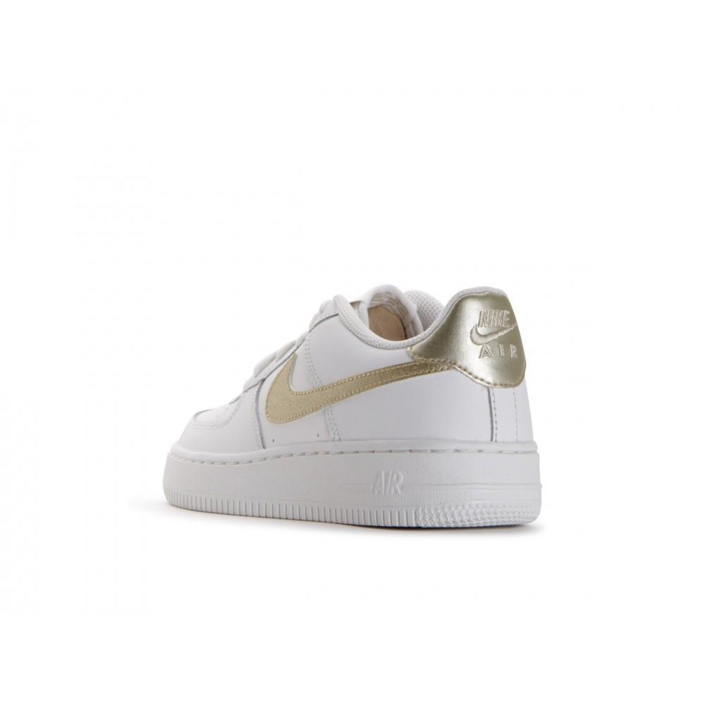 Nike Bambino Air Force 1 Gs Bianco/Oro XnavicD