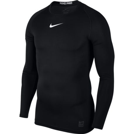 Nike T-Shirt Comp M/L Train Black/White