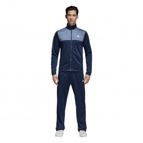 Adidas Tuta Bicolor Poly Train Blu