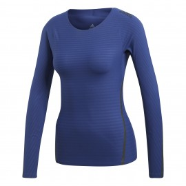 Adidas T-Shirt Donna Train Climachill Blu