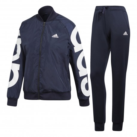 Adidas Tuta Donna Big Logo Train Nero