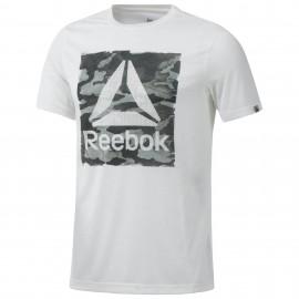 Reebok T-Shirt Mm Train Bianco