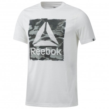 Reebok T-Shirt Mm Train Bianco