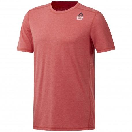 Reebok T-Shirt Cross Burnout Rosso