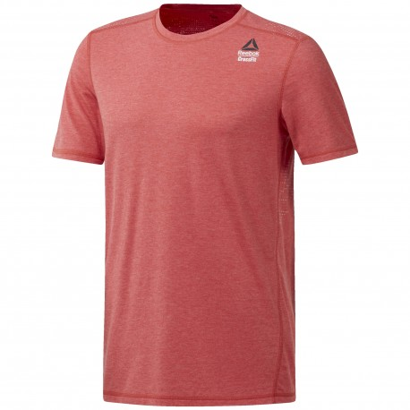 Reebok T-Shirt Cross Burnout Rosso