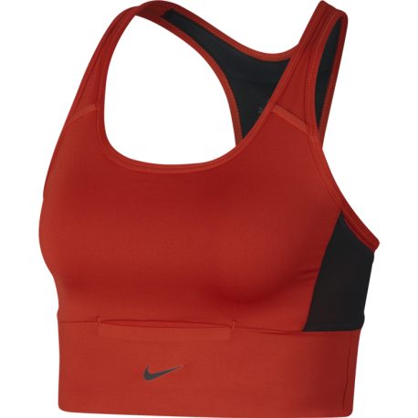 Nike Bra Donna Pocket Train Habanero Red/Black