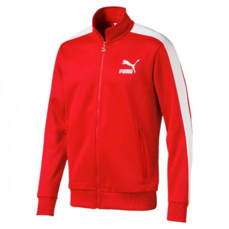 Puma Felpa Full Zip Rosso