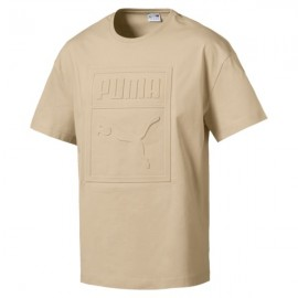 Puma T-Shirt Big Logo Beige