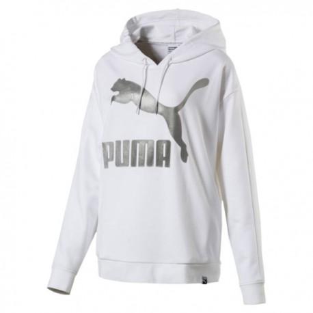 Puma Felpa Donna Big Logo Bianco