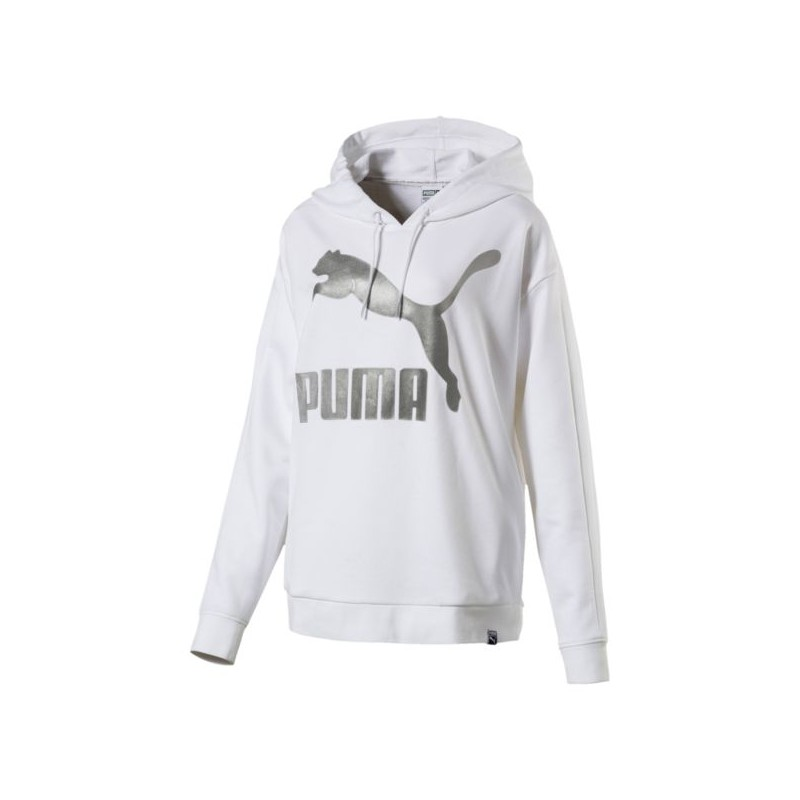 brand new d231d c0921 Puma Felpa Donna Big Logo Bianco