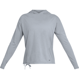 Under Armour T-Shirt Donna Ml Poly C/Capp Grigio
