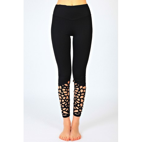 Sara Anversa Leggings Donna Train Nero