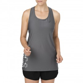 Ascics Tank Donna Rn Graphic Carbon