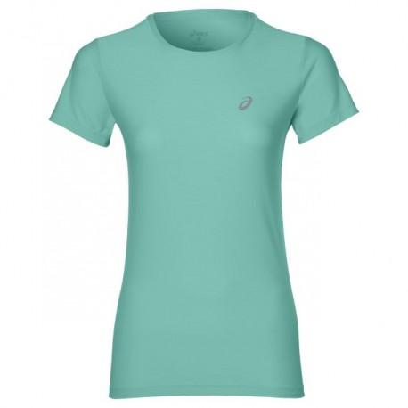 Asics T-Shirt Donna Mm Run Balance Opal Green