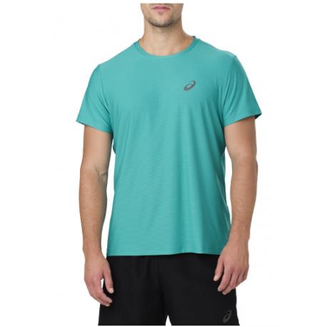 Asics T-Shirt Mm Rn Lake Blu