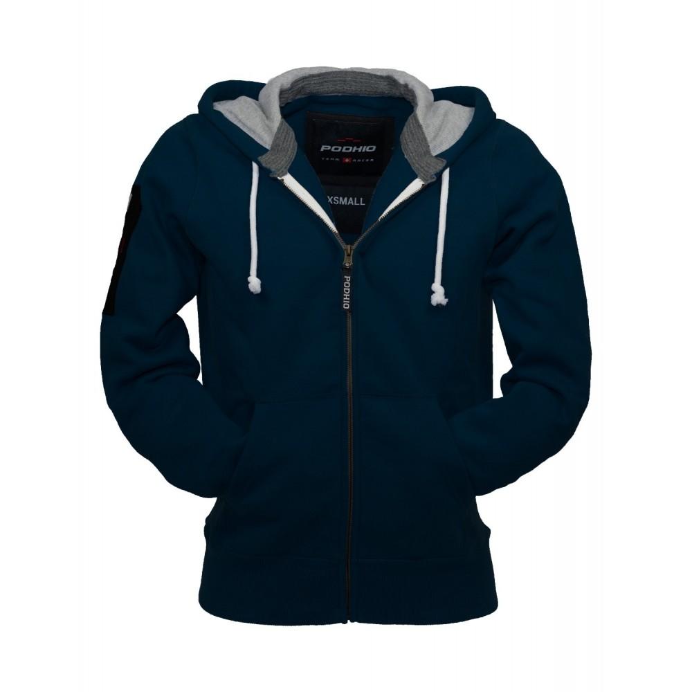buy popular 0b417 37113 Podhio Giacca Felpa Uomo Zip e Cappuccio Blu Navy