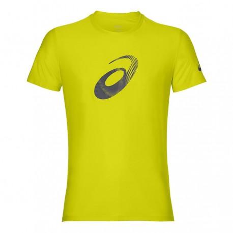 Asics T-Shirt Mm Rn Graphic Sulphur Spring/Dark Gray