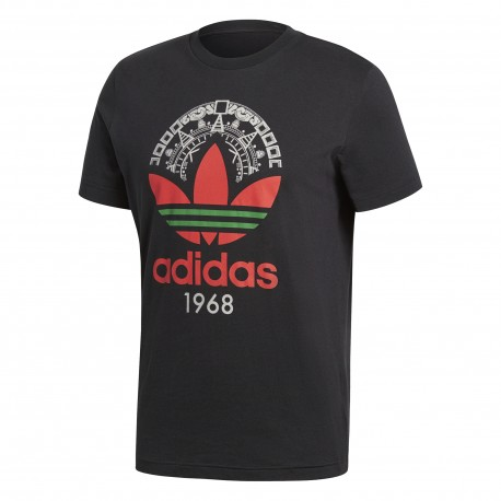Adidas Originals T-Shirt Logo Trefoil Or  Nero