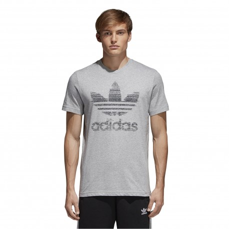 Adidas Originals T-Shirt Big Logo Or  Grigio