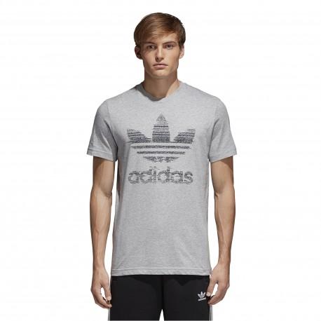 Adidas Originals T-Shirt Big Logo Or  Grigio