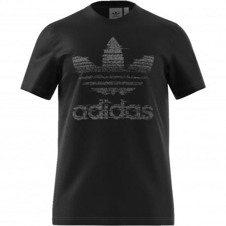 Adidas Originals T-Shirt Big Logo Or  Nero