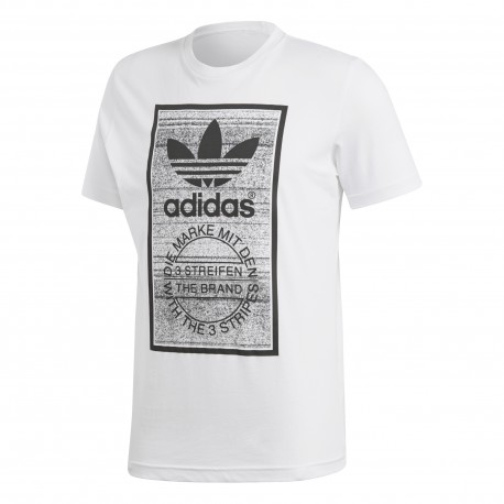 Adidas Originals T-Shirt Trefoil Or  Bianco