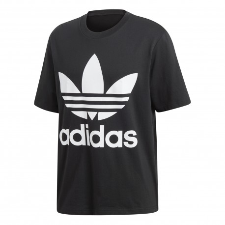 Adidas Originals T-Shirt Big Logo Over Nero