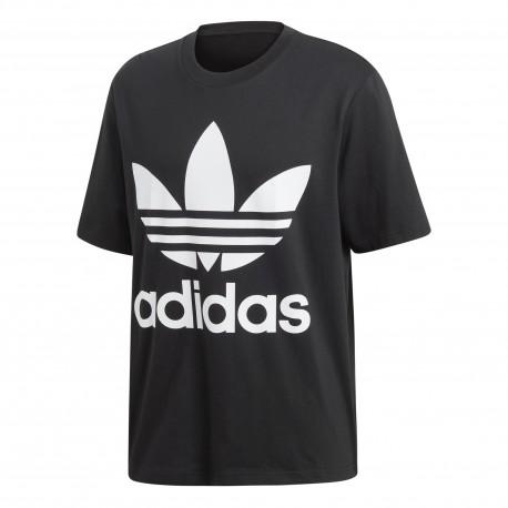 Adidas Originals T-Shirt Big Logo Over Nero