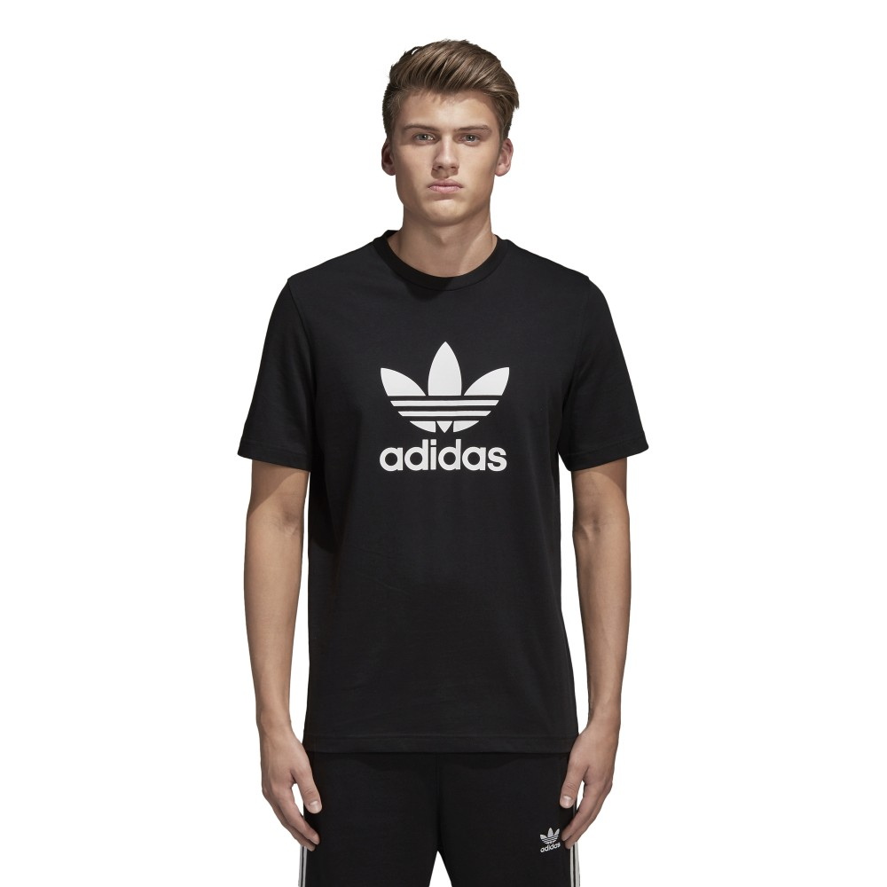 maglietta adidas nera uomo